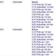 Geschikt voor Cheyenne super Chevrolet 73-74